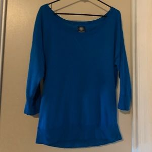 Blue light weight sweater